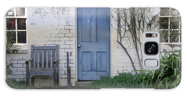 Blue Door Galaxy Case by Bev Conover