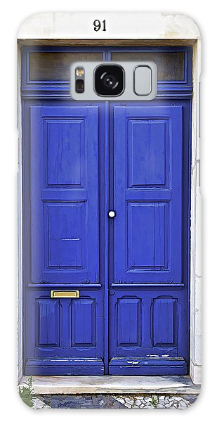 Blue Door Of Estremoz  Galaxy Case