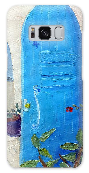 Blue Door Galaxy Case by Susan Woodward