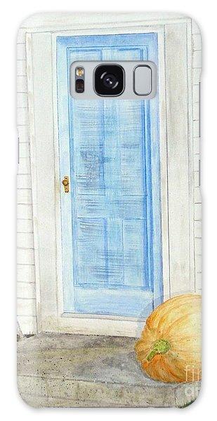Blue Door With Pumpkin Galaxy Case