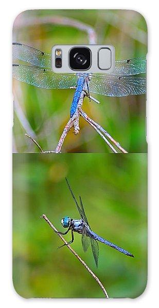 Blue Dragon Fly Galaxy Case