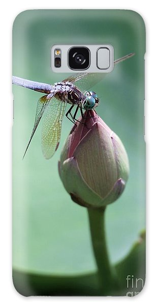 Blue Dragonflies Love Lotus Buds Galaxy Case