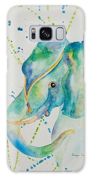 Blue Elephant Galaxy Case