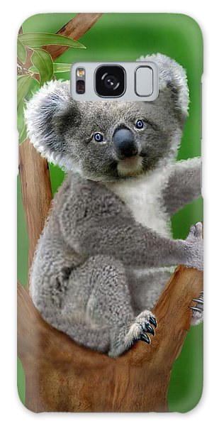 Blue-eyed Baby Koala Galaxy Case