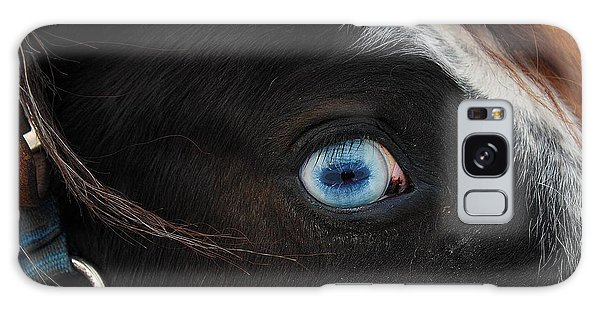 Blue Eyed Horse Galaxy Case