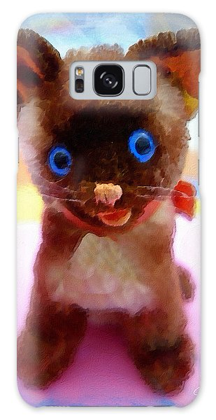 Galaxy Case featuring the painting Blue Eyed Kitty by Joan Reese