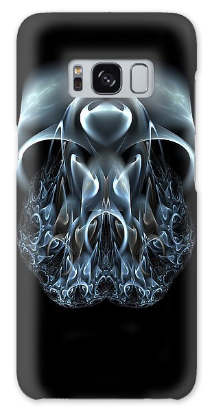 Blue Flame Skull Galaxy Case