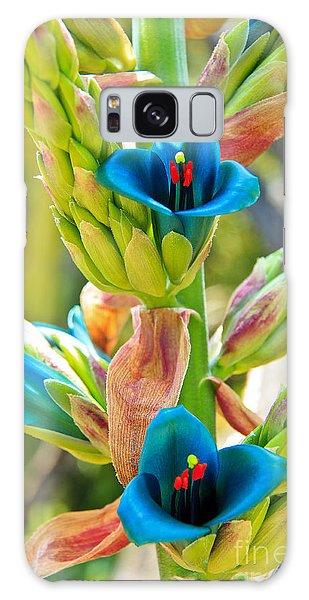 Blue Flower 2 Galaxy Case