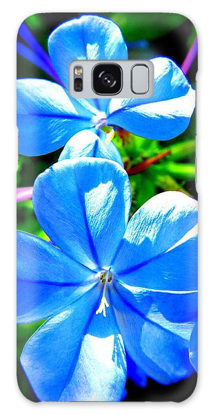 Blue Flower Galaxy Case by David Mckinney