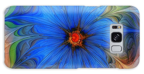 Fractal Galaxy Case - Blue Flower Dressed For Summer by Karin Kuhlmann