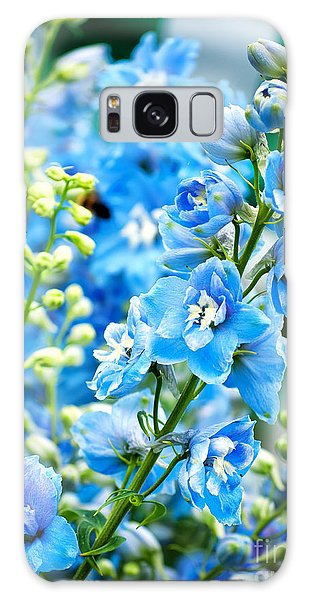 Blue Flowers Galaxy Case