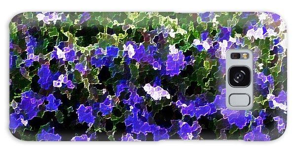 Blue Flowers On Sun Galaxy Case by Dr Loifer Vladimir