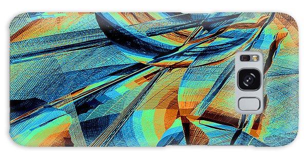 Galaxy Case featuring the digital art Blue Flowpaper Solarized by Joy McKenzie