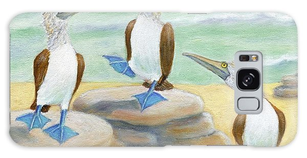 Blue-footed Boobies Galaxy Case by Jeanne Kay Juhos