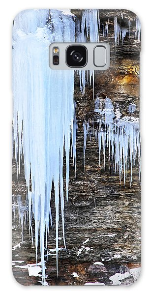Blue Frozen Icicle Stalactites Galaxy Case by Darleen Stry
