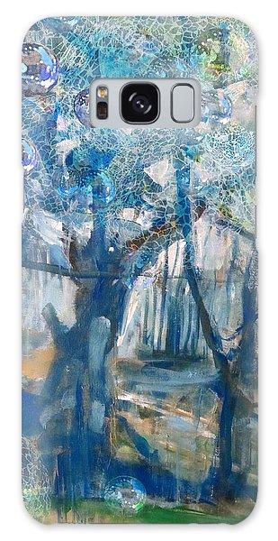 Blue Glass Bead Tree Galaxy Case