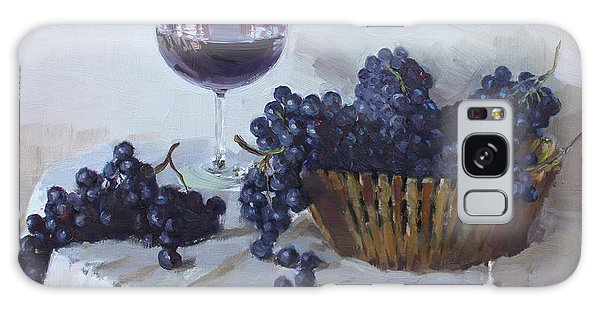 Grape Galaxy Case - Blue Grapes And Wine by Ylli Haruni