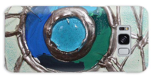 Blue Green And Gold Circle Galaxy Case by Cynthia Snyder