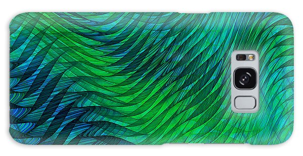 Blue Green Fabric Abstract Galaxy Case by Jane McIlroy