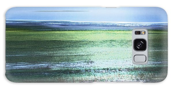 Galaxy Case featuring the photograph Blue Green Landscape by Belinda Greb