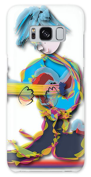 Blue Hair Guitar Player Galaxy Case by Marvin Blaine