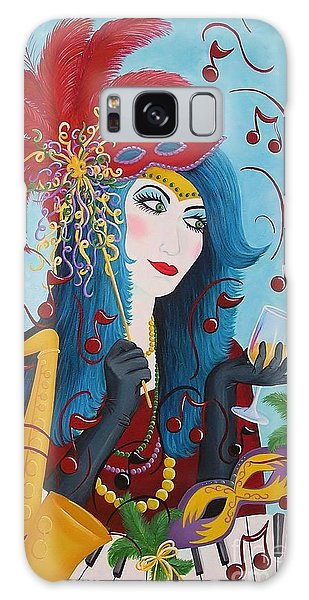 Blue Haired Lady Galaxy Case