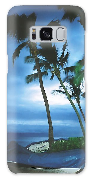Blue Hawaii With Planets At Night Galaxy Case by Connie Fox