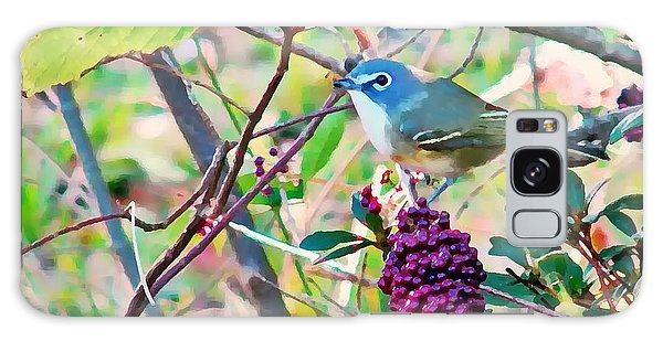 Blue-headed Vireo Galaxy Case by Peg Urban