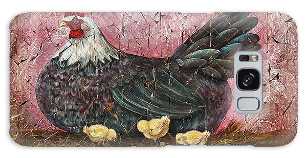 Blue Hen With Chicks Fresco Galaxy Case