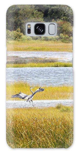 Blue Heron 2 Galaxy Case by Jim Gillen
