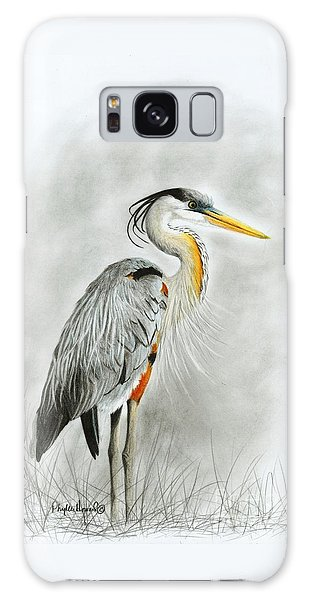 Blue Heron 3 Galaxy Case