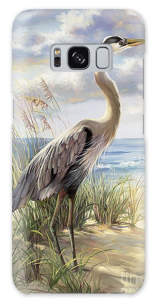 Seashore Galaxy Case - Blue Heron Deux by Laurie Snow Hein