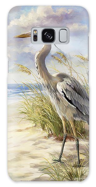 Herons Galaxy Case - Blue Heron  by Laurie Snow Hein