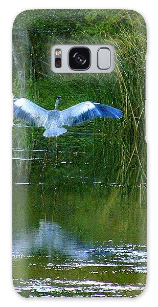 Blue Heron Galaxy Case