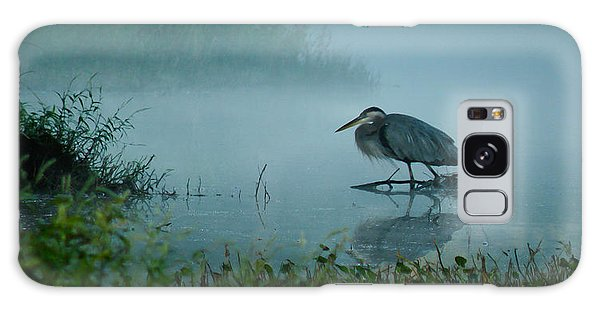 Blue Heron Morning Galaxy Case
