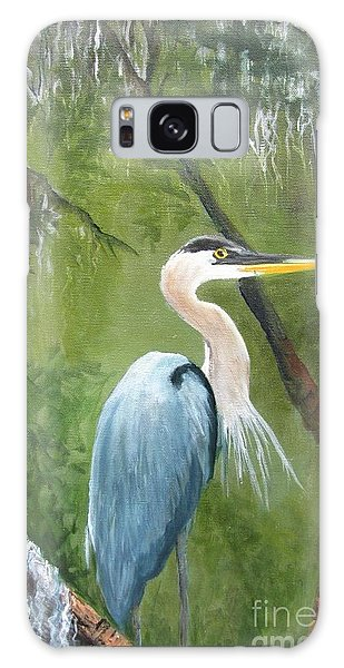 Blue Heron Nesting Galaxy Case