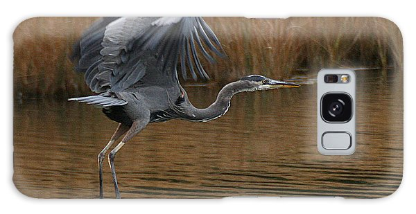 Blue Heron Takes Flight Galaxy Case