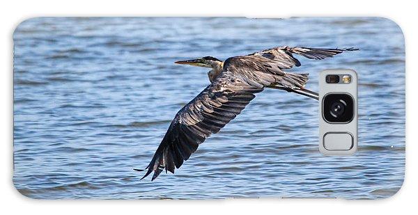 Blue Heron Water Flight Galaxy Case