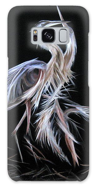 Blue Herons Mating Dance Galaxy Case by LaVonne Hand