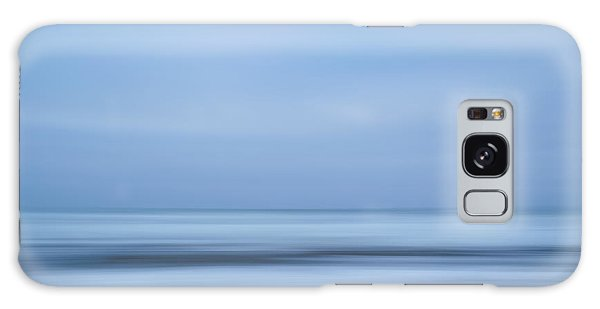 Blue Hour Beach Abstract Galaxy Case by Linda Villers