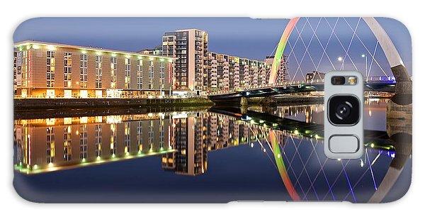 Blue Hour In Glasgow Galaxy Case by Stephen Taylor