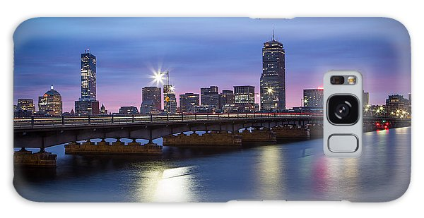 Blue Hour On The Charles River Galaxy Case