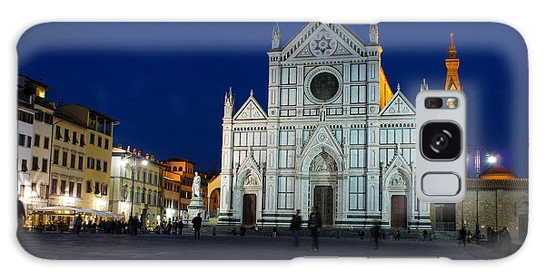 Blue Hour - Santa Croce Church Florence Italy Galaxy Case