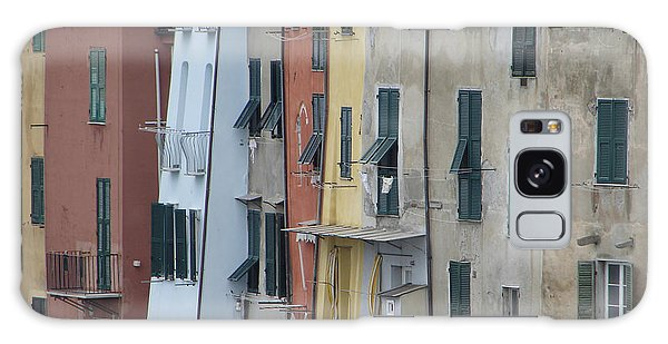 Blue House Portovenere Italy Galaxy Case