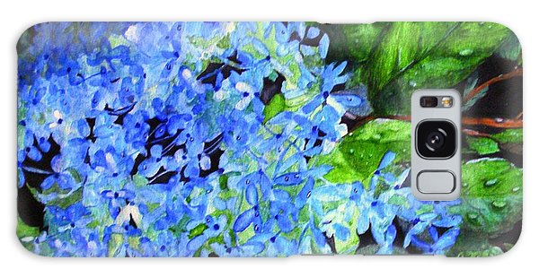 Blue Hydrangea After The Rain Galaxy Case