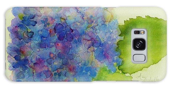 Blue Hydrangea Galaxy Case by Ann Michelle Swadener