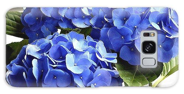 Blue Hydrangea Galaxy Case by Lehua Pekelo-Stearns