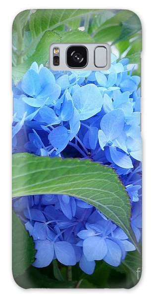 Blue Hydrangea Galaxy Case by Rose Wang