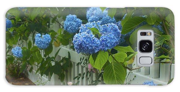 Blue Hydrangeas Galaxy Case