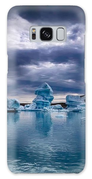 Blue Ice 2 Galaxy Case by Michaela Preston